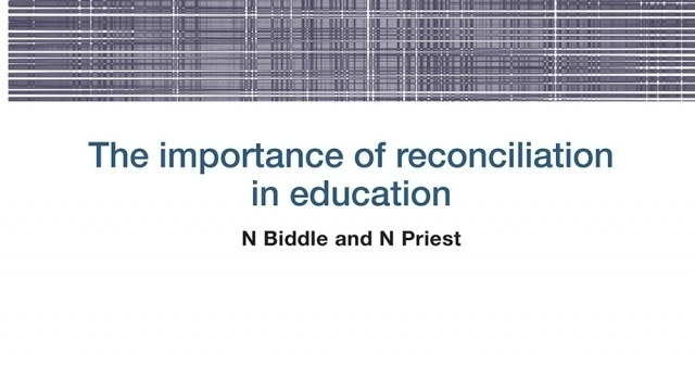 Working Paper: The importance of reconciliation in education