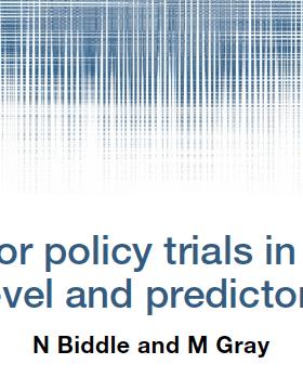 CSRM Methods Series - NEW paper by N Biddle & M Gray
