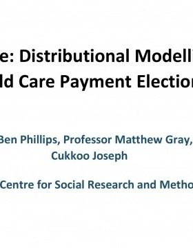 Research Note: Modelling of Labor Tax and Child Care Payment Election Policies