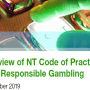 Review of NT Code of Practice for Responsible Gambling