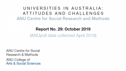 ANUPoll: Universities in Australia: Attitudes and challenges