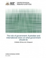 The role of government: Australian and international views on what government should do