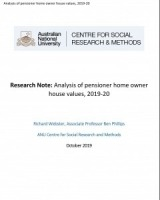 Research Note - Analysis of pensioner home owner house values, 2019-20