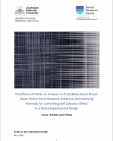 The Effects of Mode on Answers in Probability-Based Mixed-Mode Online Panel Research: Evidence and Matching Methods for Controlling Self-Selection Effect in a Quasi-Experimental Design