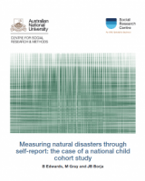 Measuring natural disasters through self-report: the case of a national child cohort study