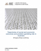 Trajectories of social and economic outcomes and problem gambling risk in Australia