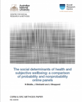 The social determinants of health and subjective wellbeing: a comparison of probability and nonprobability online panels