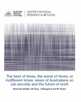 The best of times, the worst of times, or indifferent times: views of Australians on job security and the future of work