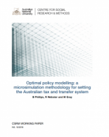 Optimal policy modelling: a microsimulation methodology for setting the Australian tax and transfer system