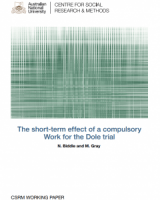 The short-term effect of a compulsory Work for the Dole trial