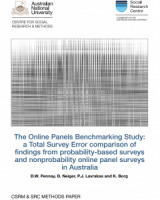 The Online Panels Benchmarking Study: A Total Survey Error comparison of findings from Probability-based surveys and Non-probability online panel surveys in Australia