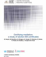 Certifying mediation: a study of section 60I certificates