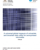 A universal global measure of univariate and bivariate data utility for anonymised microdata