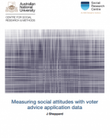 Measuring social attitudes with voter advice application data